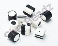 Fimo Black & White Liquorice Allsort Mix Pk 20