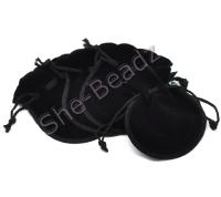 Black Velvet Jewelry Gift Bags Pk 10