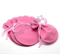 Pink Velvet Jewelry Gift Bags Pk 10