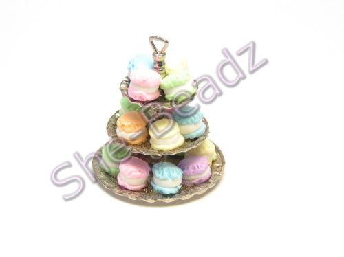 Minature 3 Tier Macaroon Cake Stand Pk 1