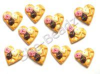 Fimo Ice Cream Waffle Charm Beads Pk 10