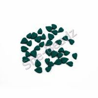 Fimo CordateLeaf Charm Beads (Teal) Mixed Pk 50