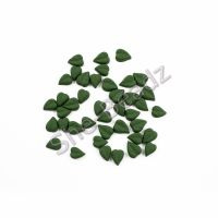 Fimo Cordate Leaf Charm Beads (Leaf Green) Mixed Pk 50