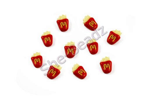 Fimo McDonalds French Fries Charm Pendants Pk 5