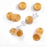 Fimo Gold Rolo Charm Beads Pk 10