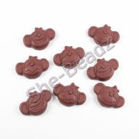 Fimo Chocolate Monkey Charms Pk 10