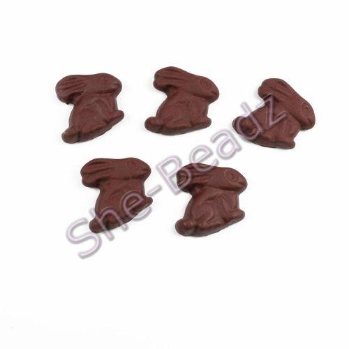Fimo Chocolate Rabit Charms Pk 10