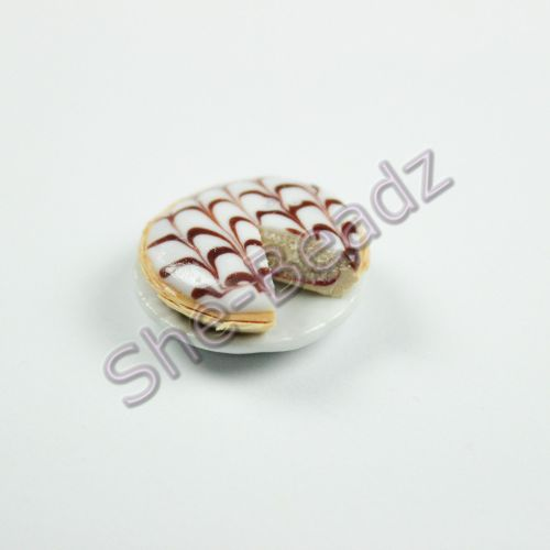 Minature Bakewell Tart on a Plate with slice cut out Pk 1