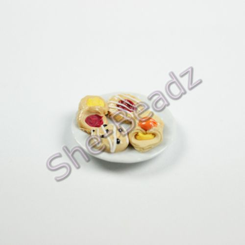 Minature Danish Pastries on a Plate Pk 1