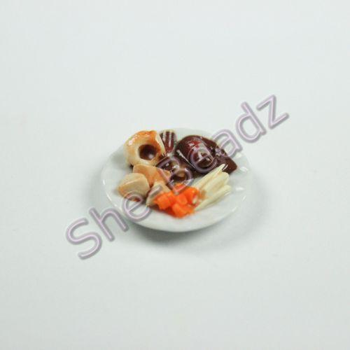 Minature Sunday Roast Beef Dinner on a Plate Pk 1