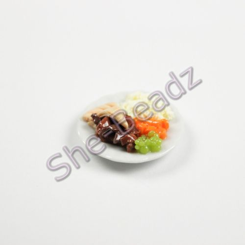 Minature Pie & Mash Dinner  on a Plate Pk 1