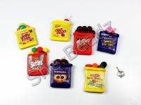 Fimo Various Open Sweet Packet Pendants with glue on bail Pk 2, YOU CHOOSE