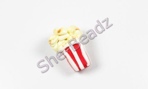 Fimo Popcorn Charm Pendants Pk 10