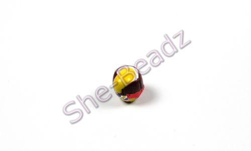 Fimo Tiny Cream Egg Charm Beads With Wrappers Pk 10
