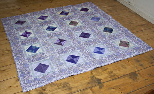Grannys purple quilt