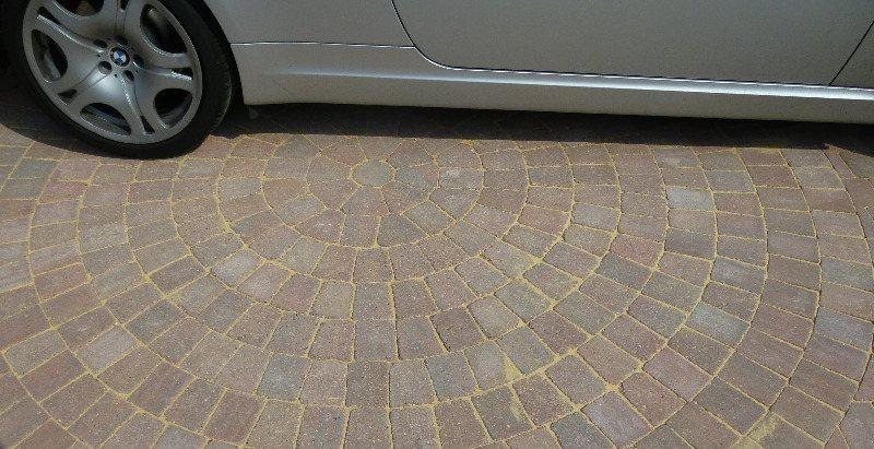 6b driveway grain finished close up