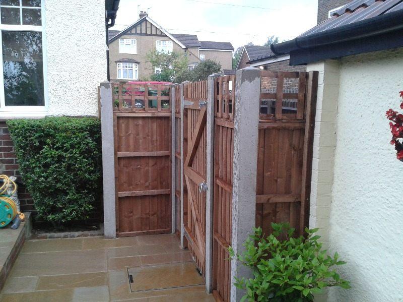 after 1 - side gate & fence