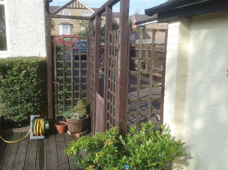 before 1 - side gate & fence