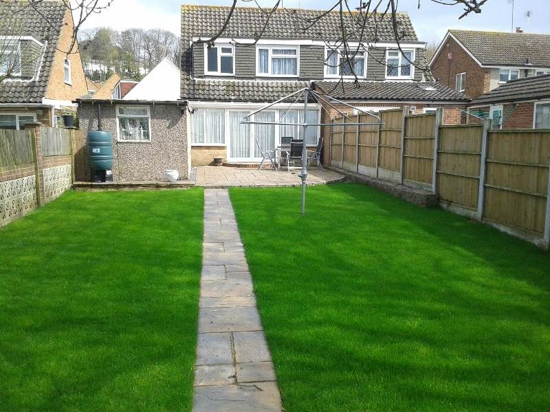 maidstone patio  and turf after 7