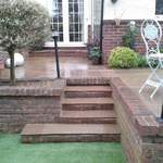 after 2 - steps to indian stone paving