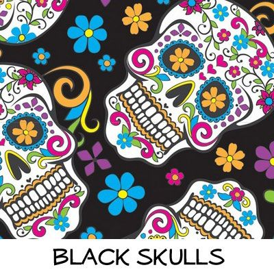 Fleece: Black Skulls