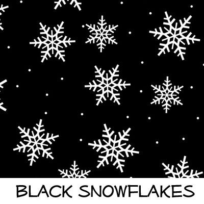 Fleece: Black Snowflakes