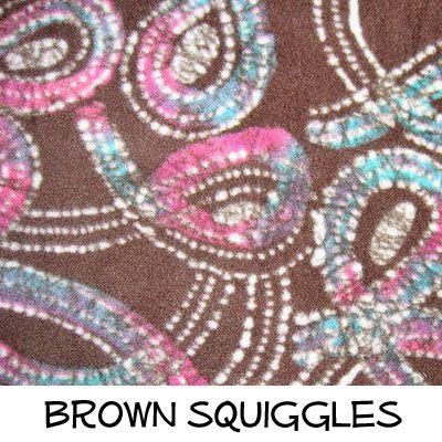 Fleece: Brown Squiggles