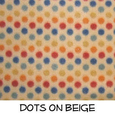 Fleece: Dots on Beige