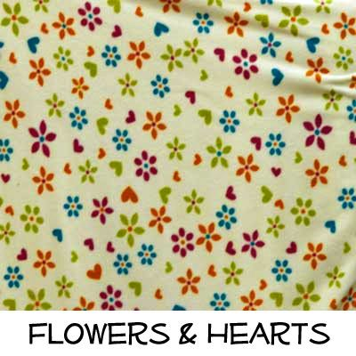 Fleece: Flowers and Hearts