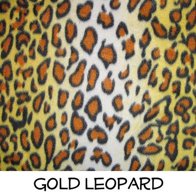 Fleece: Gold Leopard