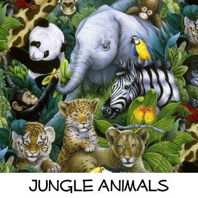 Fleece: Jungle Animals