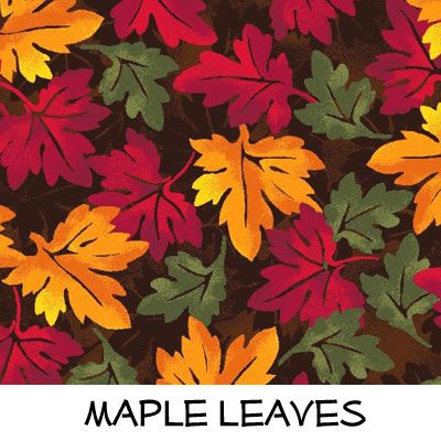 Fleece: Maple Leaves