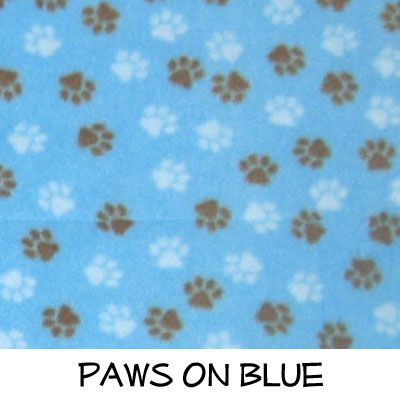 Fleece: Paws on Blue