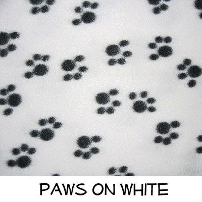 Fleece: Paws on White