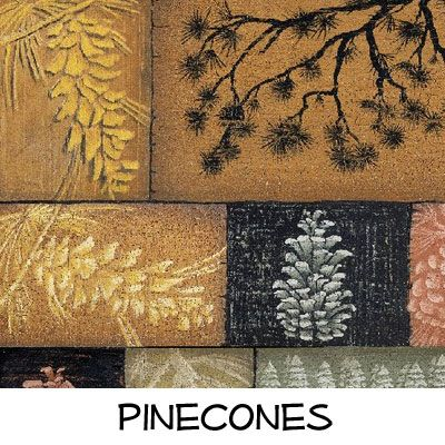 Fleece: Pinecones