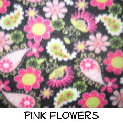 Fleece: Pink Flowers