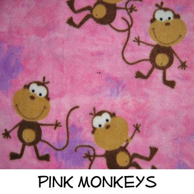 Fleece: Pink Monkeys