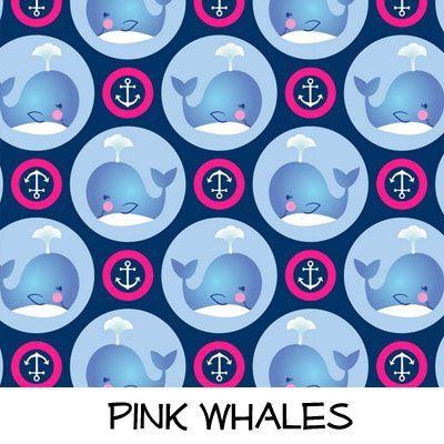 Fleece: Pink Whales