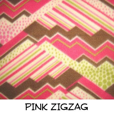 Fleece: Pink Zigzag