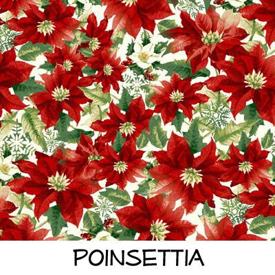 Fleece: Poinsettia