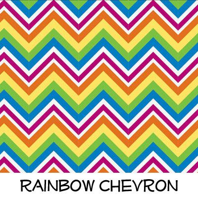 Fleece: Rainbow Chevron