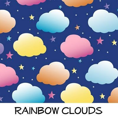 Fleece: Rainbow Clouds