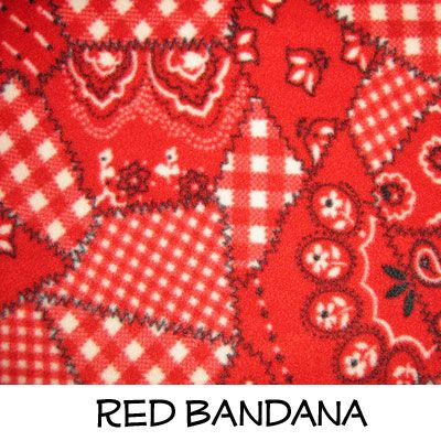 Fleece: Red Bandana