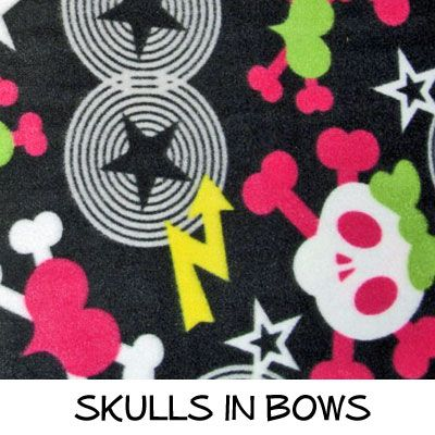 Fleece: Skulls in Bows