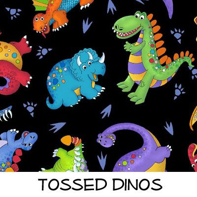 Fleece: Tossed Dinos