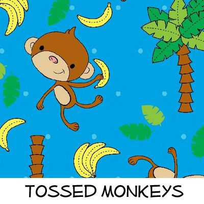 Fleece: Tossed Monkeys