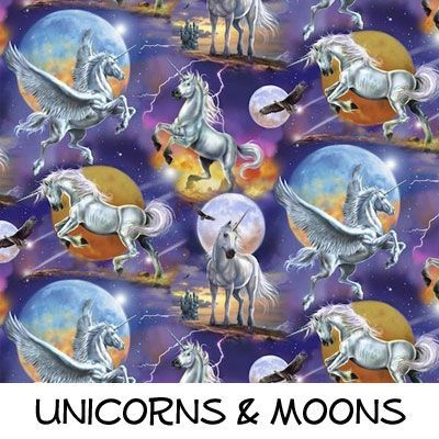 Fleece: Unicorns and Moons
