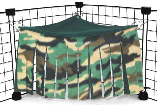 Green Camo Corner Curtain