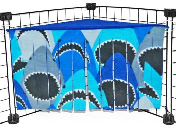 Sharks Corner Curtain
