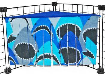 Sharks Corner Curtain